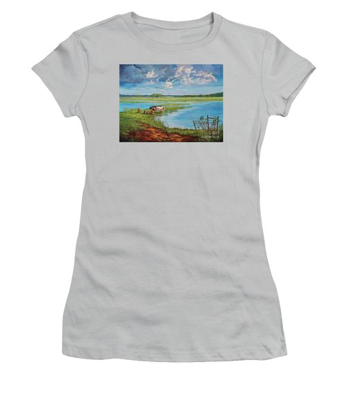 Bucolic St. John's Women's T-Shirt (Junior Cut) by AnnaJo Vahle