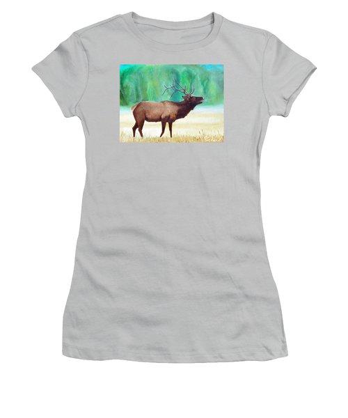 Bugling Elk Women's T-Shirt (Athletic Fit)