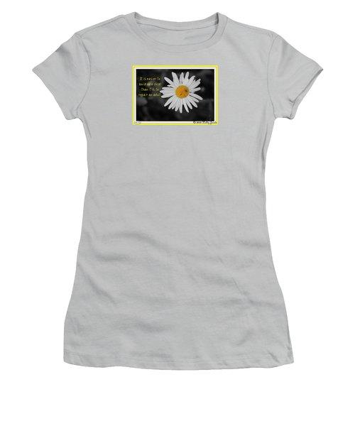Build A Child Up Women's T-Shirt (Junior Cut)