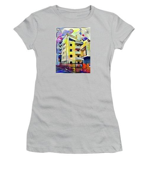 Building Site #1 Women's T-Shirt (Athletic Fit)