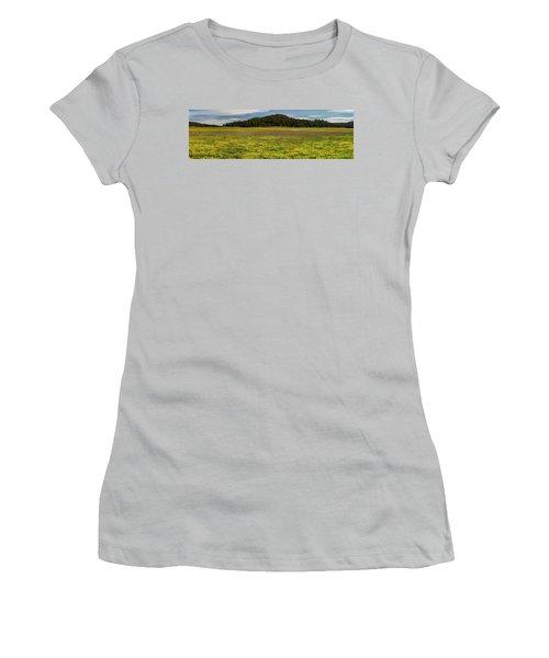 Women's T-Shirt (Junior Cut) featuring the photograph Bull Prairie by Leland D Howard