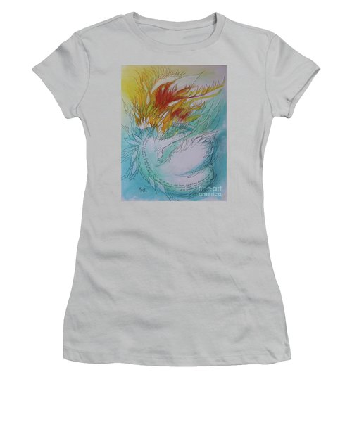 Women's T-Shirt (Junior Cut) featuring the drawing Burning Thoughts by Marat Essex