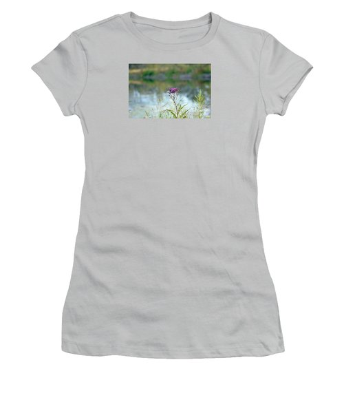 By The Pond Women's T-Shirt (Junior Cut) by Lila Fisher-Wenzel