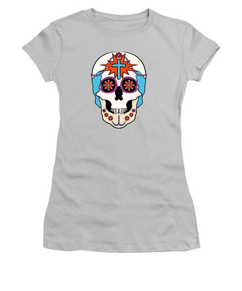 Calavera Graphic Women's T-Shirt (Junior Cut) by MM Anderson