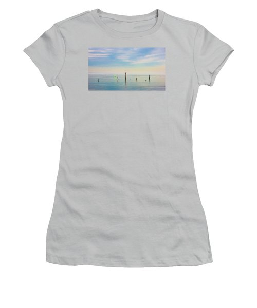 Women's T-Shirt (Athletic Fit) featuring the photograph Calm Bayshore Morning N0 2 by Gary Slawsky