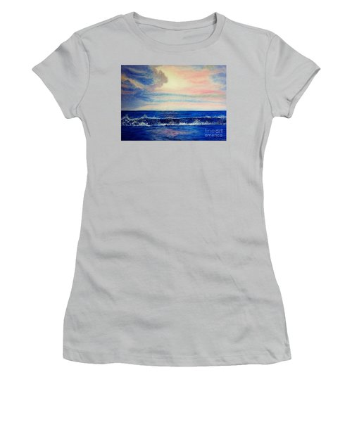 Calming Wave Women's T-Shirt (Athletic Fit)