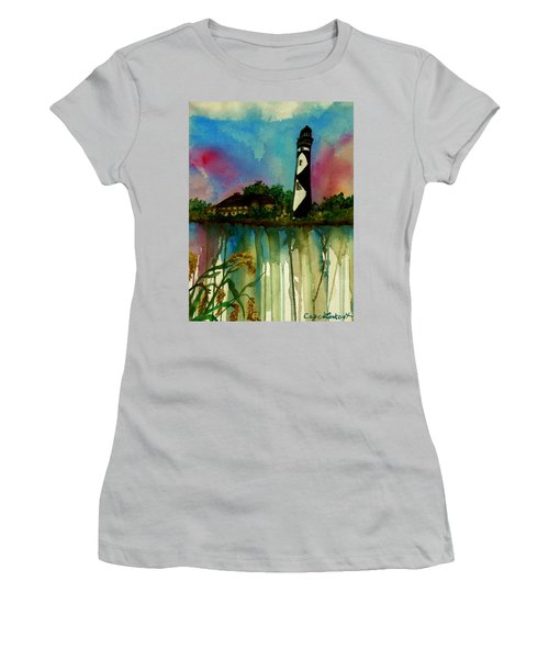 Cape Lookout Women's T-Shirt (Junior Cut) by Lil Taylor