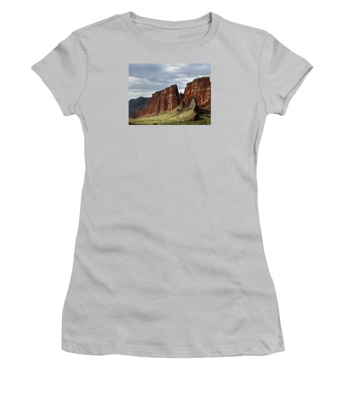 Capital Reef-cathedral Valley 9 Women's T-Shirt (Junior Cut) by Jeff Brunton