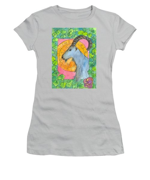 Women's T-Shirt (Junior Cut) featuring the painting Capricorn by Cathie Richardson