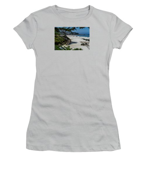 Carmel Beach Stairs Women's T-Shirt (Athletic Fit)