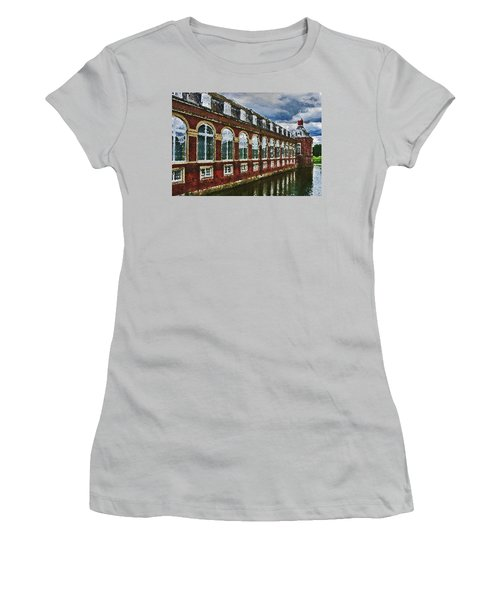 Women's T-Shirt (Athletic Fit) featuring the digital art Castle Knife Painting by PixBreak Art