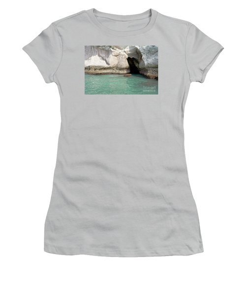 Women's T-Shirt (Junior Cut) featuring the photograph Cave Entranve by Yurix Sardinelly