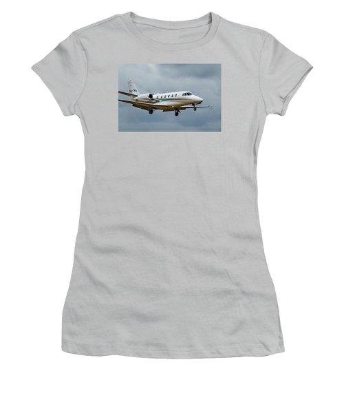 Cessna Citation X Landing Women's T-Shirt (Athletic Fit)