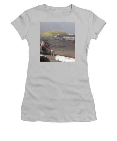 Charlie On Irish Beach Women's T-Shirt (Athletic Fit)