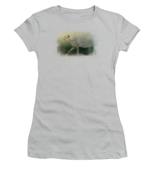 Cheetah On The Prowl Women's T-Shirt (Athletic Fit)