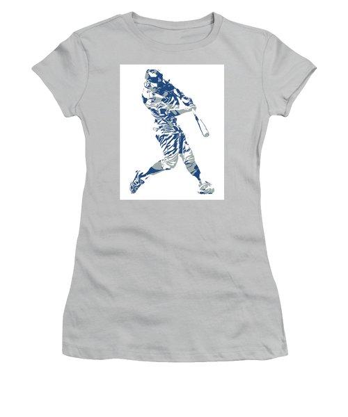 Chris Taylor Los Angeles Dodgers Home Run Women's T-Shirt (Athletic Fit)