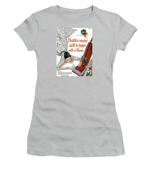 Christmas Morning She Will Be Happier With A Hoover Women's T-Shirt (Athletic Fit)