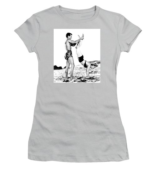 Women's T-Shirt (Athletic Fit) featuring the photograph Clash By Night With Marilyn Monroe by R Muirhead Art