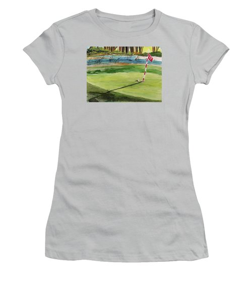 Close At The Eleventh Hole Women's T-Shirt (Athletic Fit)