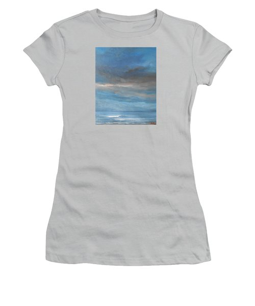 Women's T-Shirt (Junior Cut) featuring the painting Close Of Day by Jane See
