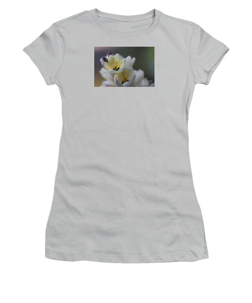 Close-up Of White Freesia Women's T-Shirt (Athletic Fit)