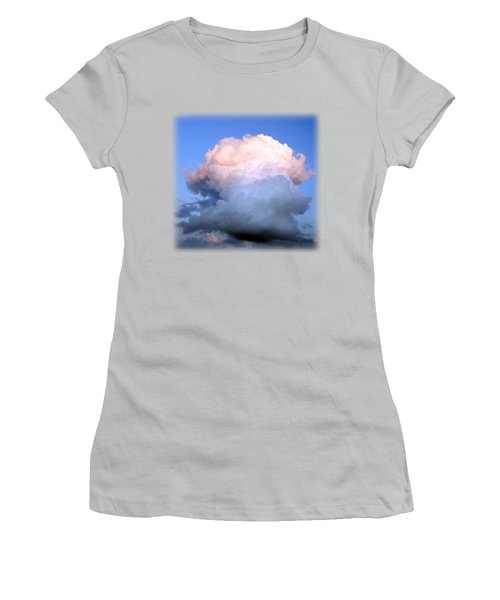 Cloud Explosion T-shirt Women's T-Shirt (Junior Cut) by Isam Awad