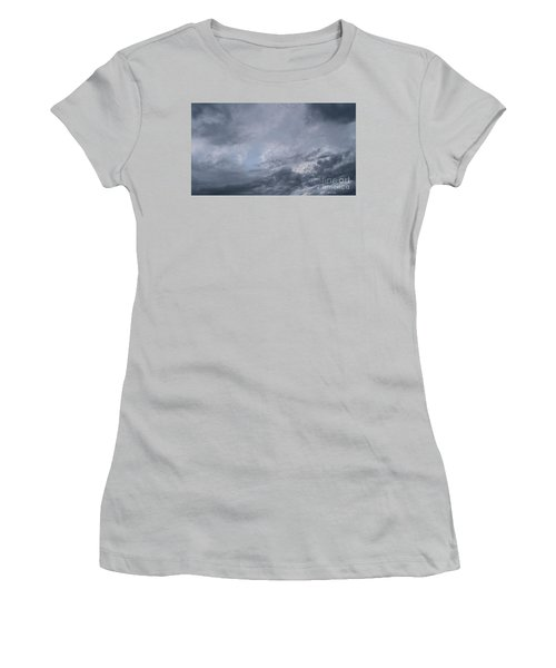 Women's T-Shirt (Athletic Fit) featuring the photograph Clouds by Megan Dirsa-DuBois