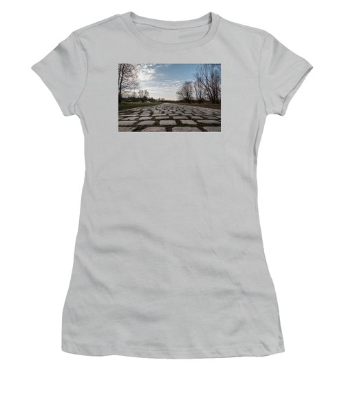 Women's T-Shirt (Junior Cut) featuring the photograph Cobble-stones by Sergey Simanovsky