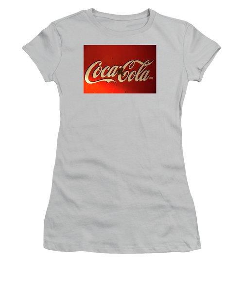 Coca-cola Sign  Women's T-Shirt (Junior Cut) by Toni Hopper