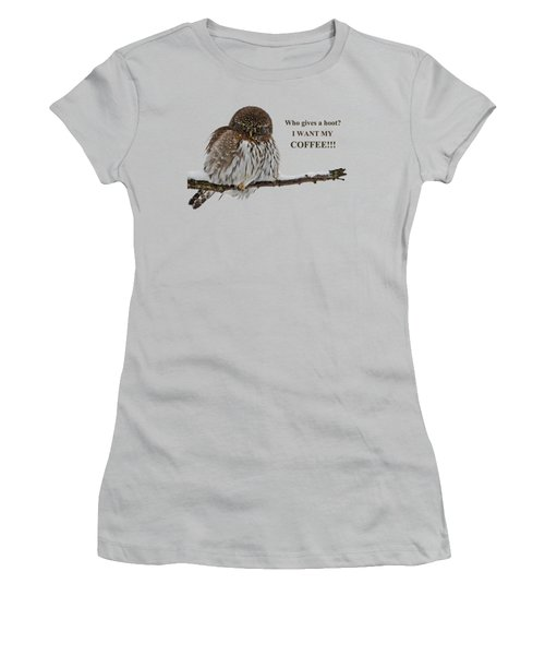 Coffee Owl Women's T-Shirt (Athletic Fit)