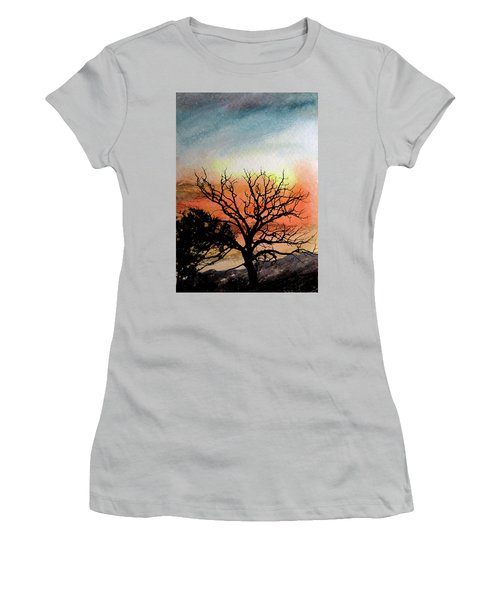 Cold Nightfall  Women's T-Shirt (Athletic Fit)