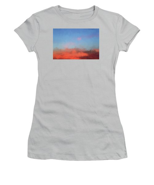 Color Abstraction Xlvii - Sunset Women's T-Shirt (Athletic Fit)