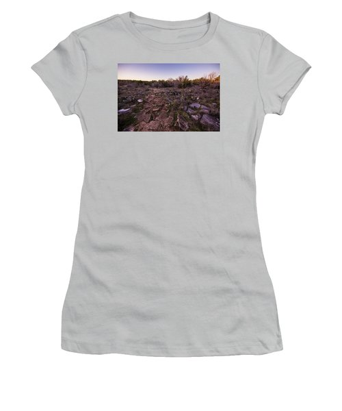 Colorado Bend State Park Gorman Falls Trail #1 Women's T-Shirt (Athletic Fit)