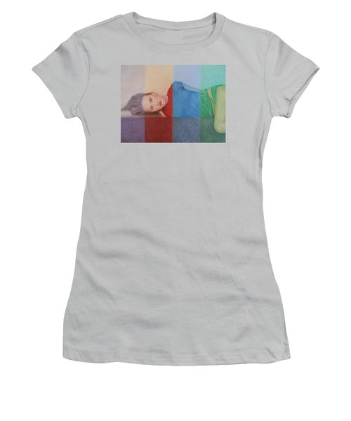 Colorful Girl Women's T-Shirt (Athletic Fit)