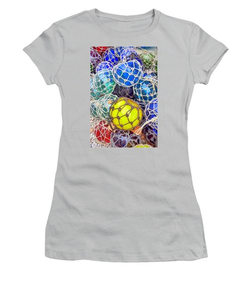 Colorful Glass Balls Women's T-Shirt (Athletic Fit)