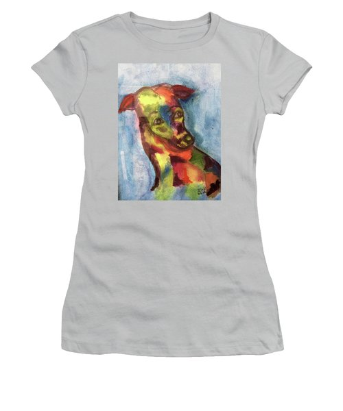 Colorful Greyhound Women's T-Shirt (Athletic Fit)