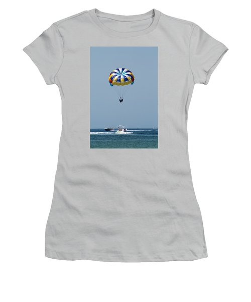 Colorful Parasailing Women's T-Shirt (Athletic Fit)