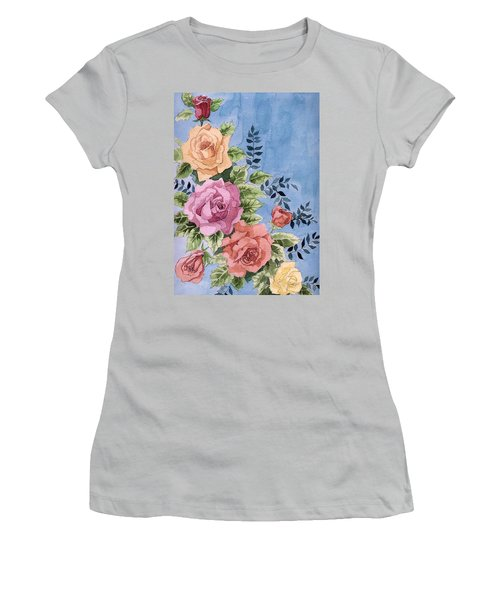 Colorfull Roses Women's T-Shirt (Athletic Fit)