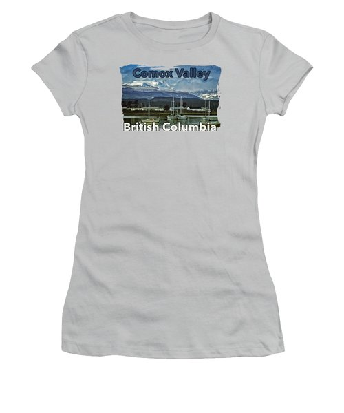 Comox Glacier Overlooking Comox Harbor Women's T-Shirt (Athletic Fit)