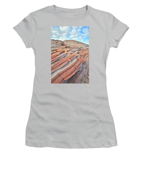 Concentric Circles Of Sandstone At Valley Of Fire Women's T-Shirt (Junior Cut) by Ray Mathis