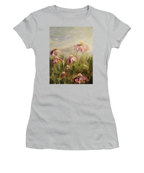 Women's T-Shirt (Junior Cut) featuring the painting Coneflowers by Donna Tuten