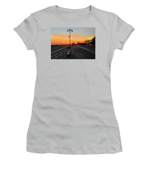 Coney Island Boardwalk Sunset Women's T-Shirt (Athletic Fit)