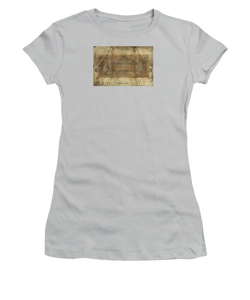 Women's T-Shirt (Junior Cut) featuring the digital art Confederate $1 North Carolina Note by Melissa Messick