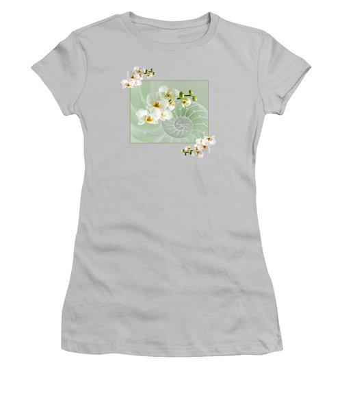 Cool Green Fusion Women's T-Shirt (Junior Cut)