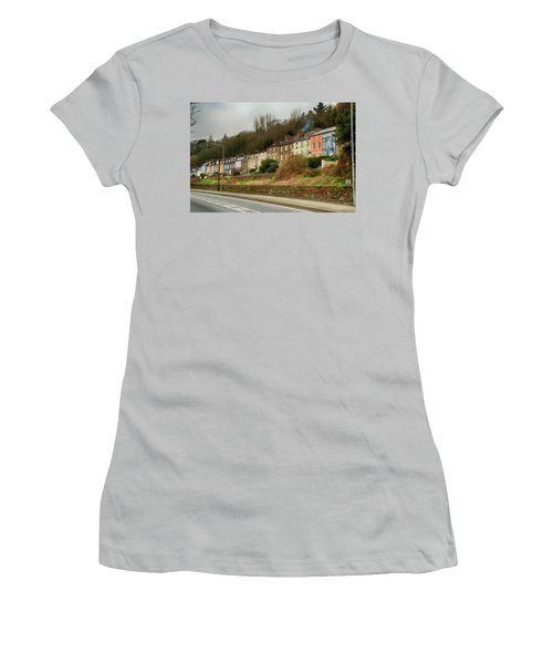 Women's T-Shirt (Junior Cut) featuring the photograph Cork Row Houses by Marie Leslie