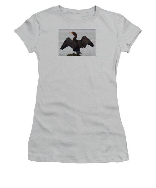 Cormorant In Bellingham Women's T-Shirt (Junior Cut) by Karen Molenaar Terrell