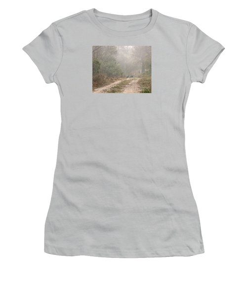 Country Road In The Morning Women's T-Shirt (Athletic Fit)