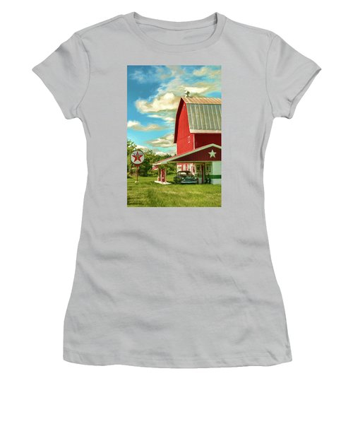 County G Classic Station Women's T-Shirt (Junior Cut) by Trey Foerster