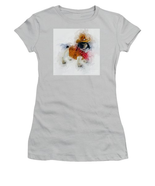 Cowboy Bulldog Women's T-Shirt (Athletic Fit)