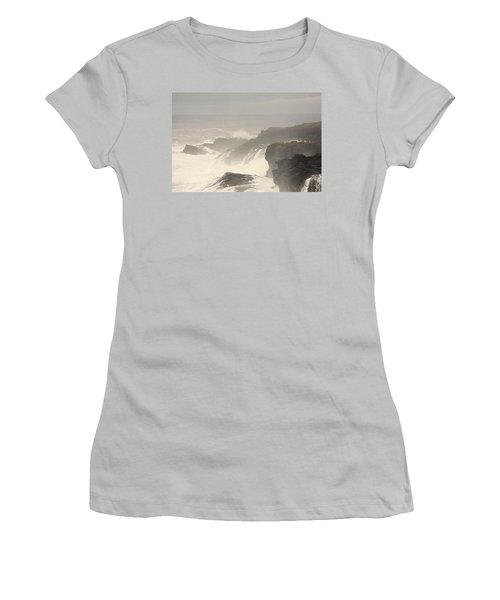 Women's T-Shirt (Junior Cut) featuring the photograph Crashing Waves by Angi Parks